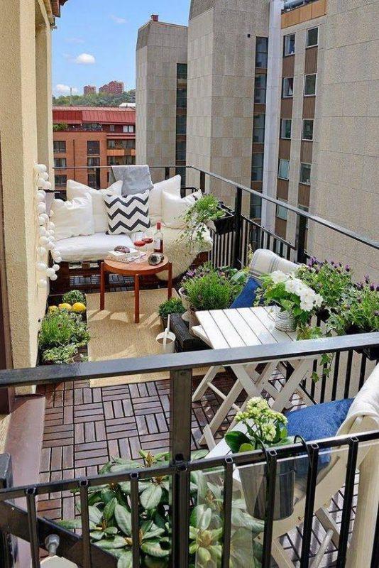 ban cong xanh thu gian 6 534x800 - #35 Kiểu ban công xanh [ĐẸP] ở chung cư, nhà ở năm 2020