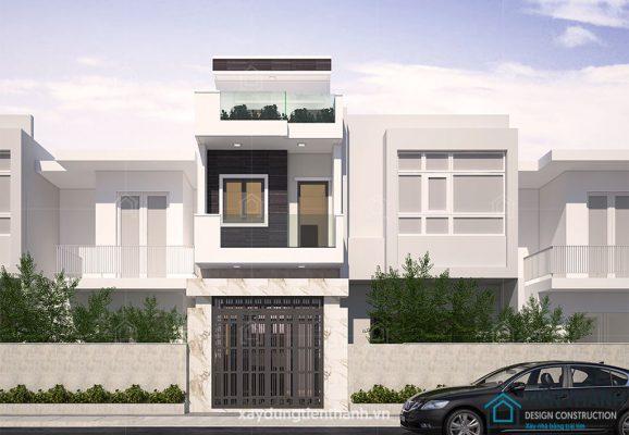 nha dep 2 tang 578x400 - #35 Mẫu nhà đẹp 2 tầng đẹp tuyển [chọn] ở TPHCM năm 2020