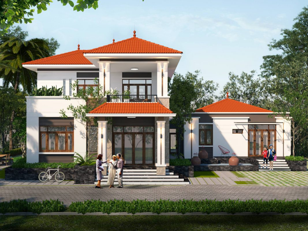 nha dep 2 tang mai thai 2 1067x800 - #35 Mẫu nhà đẹp 2 tầng đẹp tuyển [chọn] ở TPHCM năm 2020