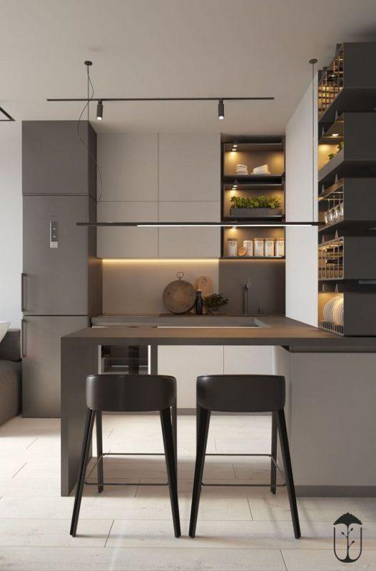 phong bep dep chung cu 5 527x800 - #45 Mẫu phòng bếp đẹp hiện đại được quan tâm nhất hiện nay