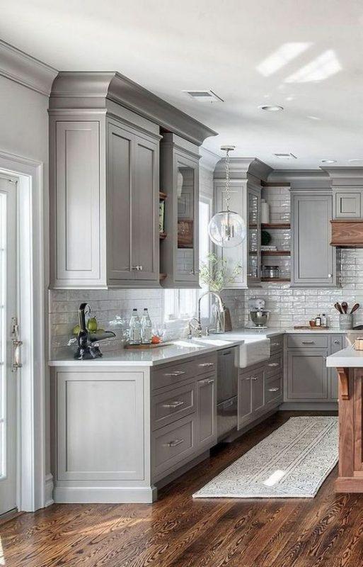 phong bep dep co dien 4 513x800 - #45 Mẫu phòng bếp đẹp hiện đại được quan tâm nhất hiện nay