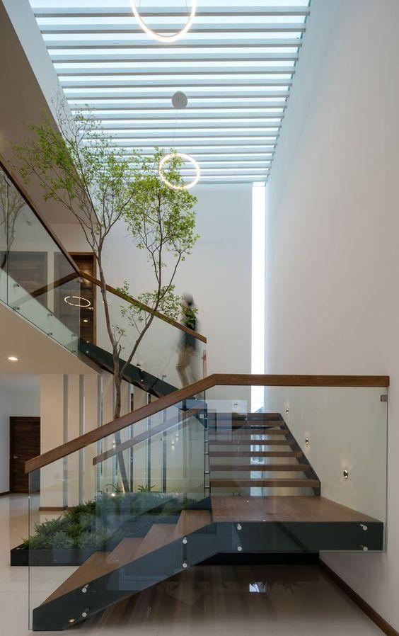 tieu canh cau thang doc vua 1 - #33 Mẫu tiểu cảnh cầu thang đẹp [trang trí] nhà ở năm 2021