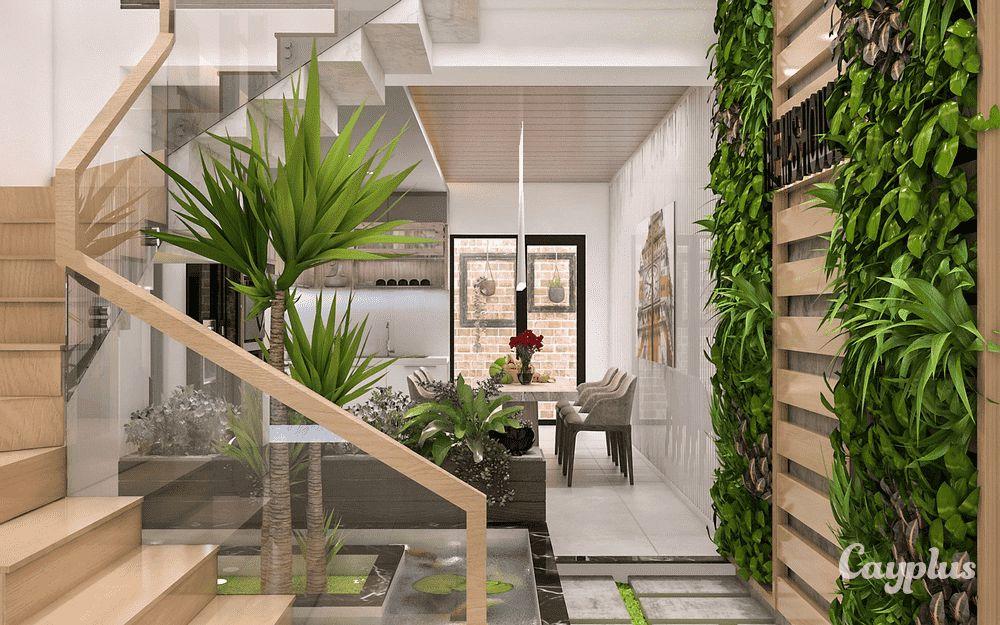 tieu canh cau thang doc vua 8 - #33 Mẫu tiểu cảnh cầu thang đẹp [trang trí] nhà ở năm 2021