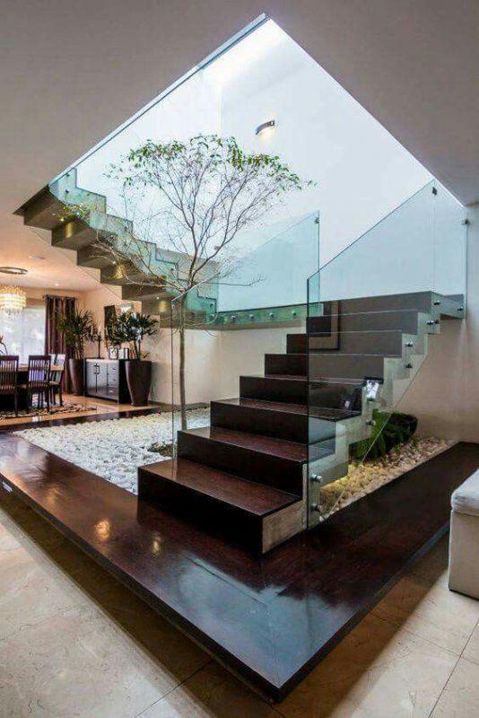 tieu canh cau thang rong 4 534x800 - #33 Mẫu tiểu cảnh cầu thang đẹp [trang trí] nhà ở năm 2021