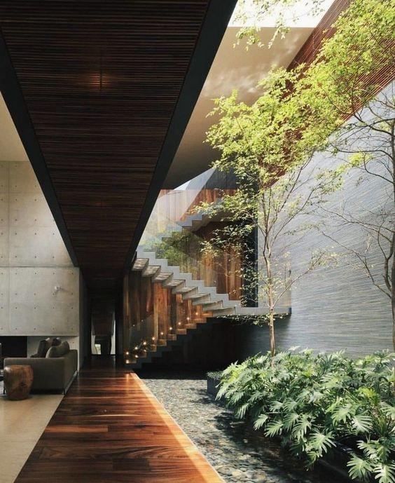 tieu canh cau thang rong 7 - #33 Mẫu tiểu cảnh cầu thang đẹp [trang trí] nhà ở năm 2021