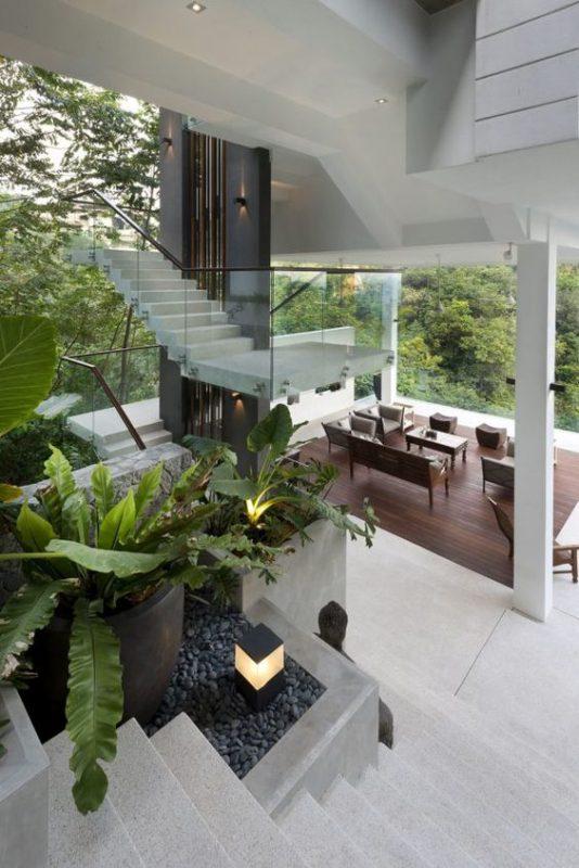 tieu canh cau thang soan oc 4 534x800 - #33 Mẫu tiểu cảnh cầu thang đẹp [trang trí] nhà ở năm 2021