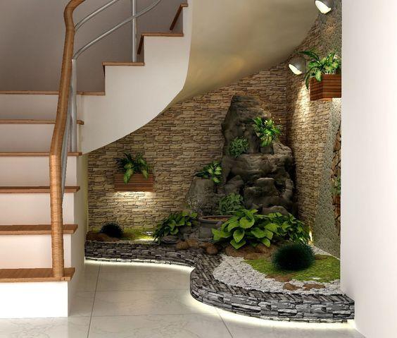 tieu canh cau thang soan oc 6 - #33 Mẫu tiểu cảnh cầu thang đẹp [trang trí] nhà ở năm 2021