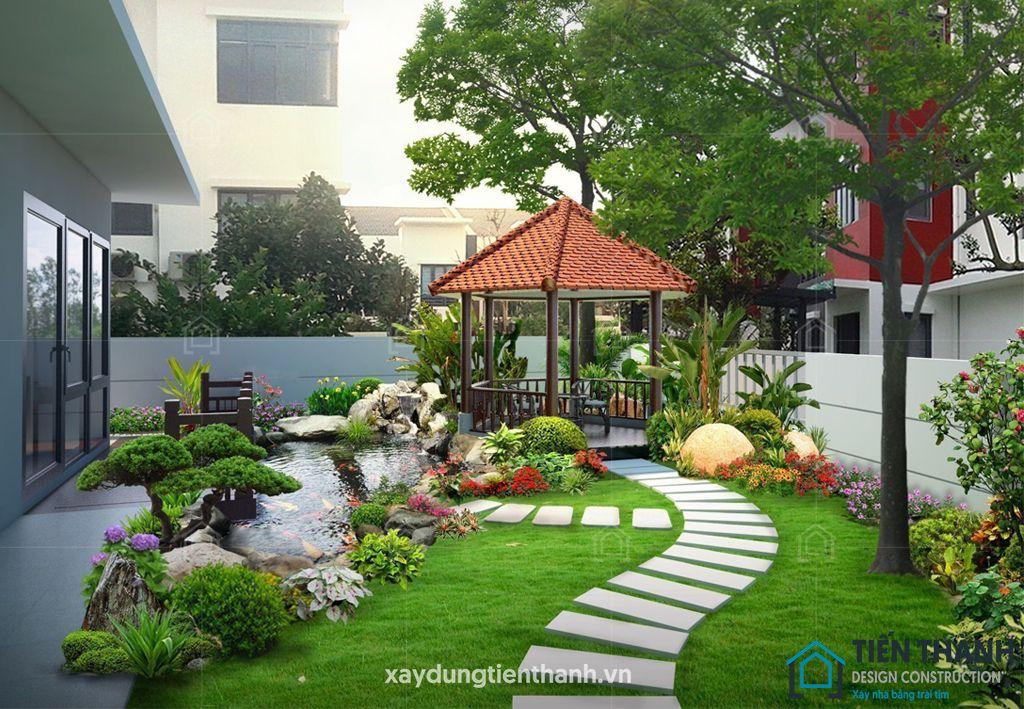 tieu canh san vuon truyen thong 3 - #55 Mẫu tiểu cảnh sân vườn ĐẸP được [khao khát] nhất 2020