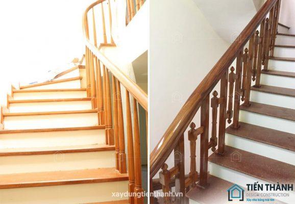 cau thang go dep hien dai 578x400 - #29 Mẫu cầu thang gỗđẹp 2020 ưa chuộng HOT nhất tại TPHCM