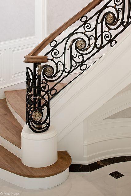 cau thang sat nghe thuat my thuat dep 9 - #55 Mẫu cầu thang sắt đẹp [thích hợp] mọi không gian nhà ở.