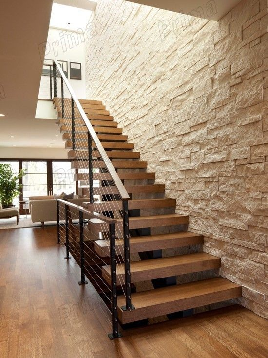 cau thang sat op bac go dep 1 - #55 Mẫu cầu thang sắt đẹp [thích hợp] không gian nhà ở.