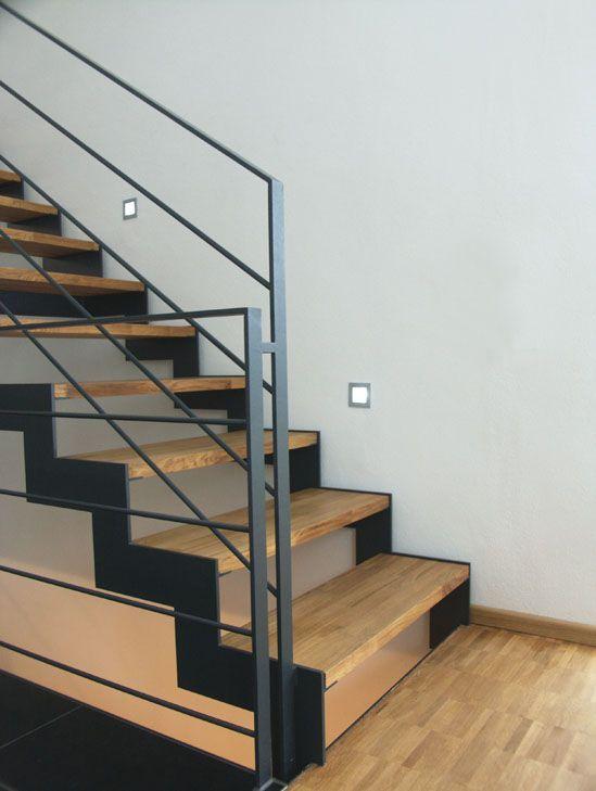 cau thang sat op bac go dep 10 - #55 Mẫu cầu thang sắt đẹp [thích hợp] không gian nhà ở.