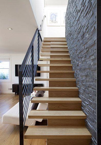 cau thang sat op bac go dep 3 - #55 Mẫu cầu thang sắt đẹp [thích hợp] không gian nhà ở.