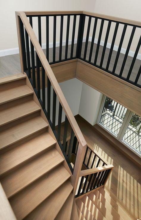 cau thang sat op bac go dep 6 - #55 Mẫu cầu thang sắt đẹp [thích hợp] mọi không gian nhà ở.