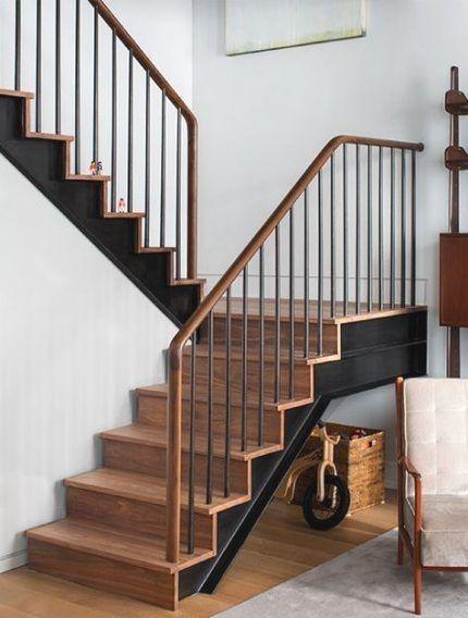 cau thang sat op bac go dep 9 - #55 Mẫu cầu thang sắt đẹp [thích hợp] không gian nhà ở.