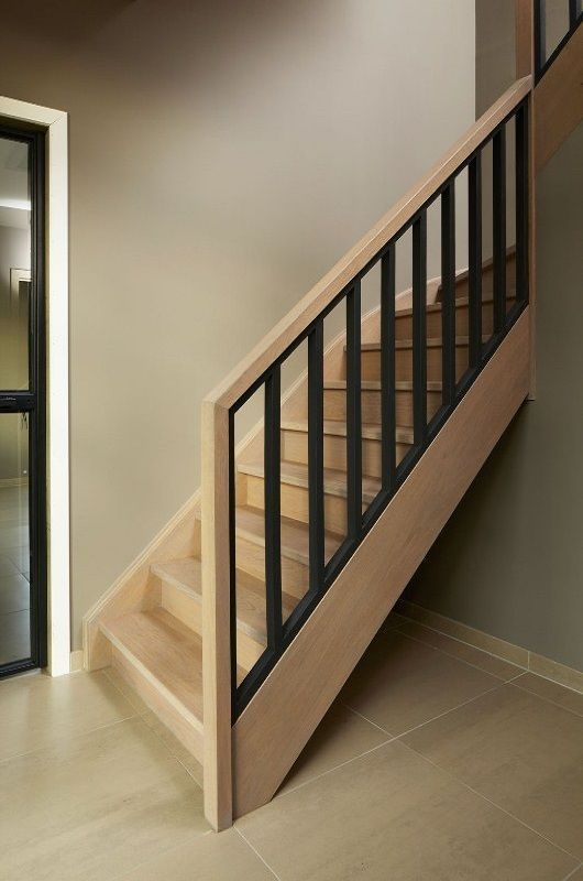 cau thang sat tay vin go dep 12 - #55 Mẫu cầu thang sắt đẹp [thích hợp] mọi không gian nhà ở.