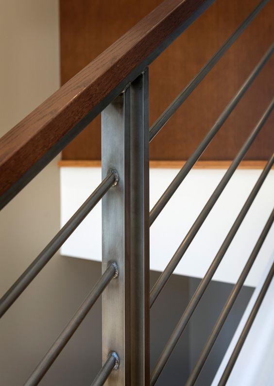 cau thang sat tay vin go dep 4 - #55 Mẫu cầu thang sắt đẹp [thích hợp] mọi không gian nhà ở.