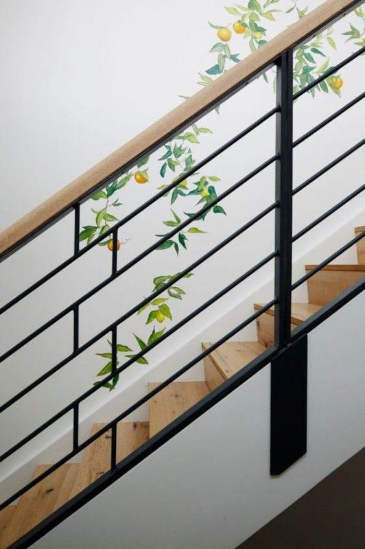 cau thang sat tay vin go dep 5 532x800 - #55 Mẫu cầu thang sắt đẹp [thích hợp] mọi không gian nhà ở.