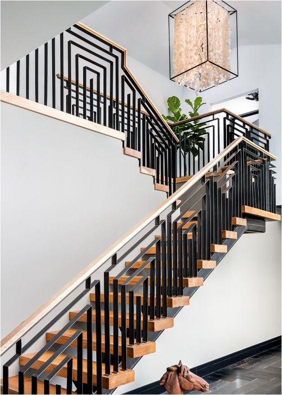 cau thang sat tay vin go dep 9 - #55 Mẫu cầu thang sắt đẹp [thích hợp] mọi không gian nhà ở.