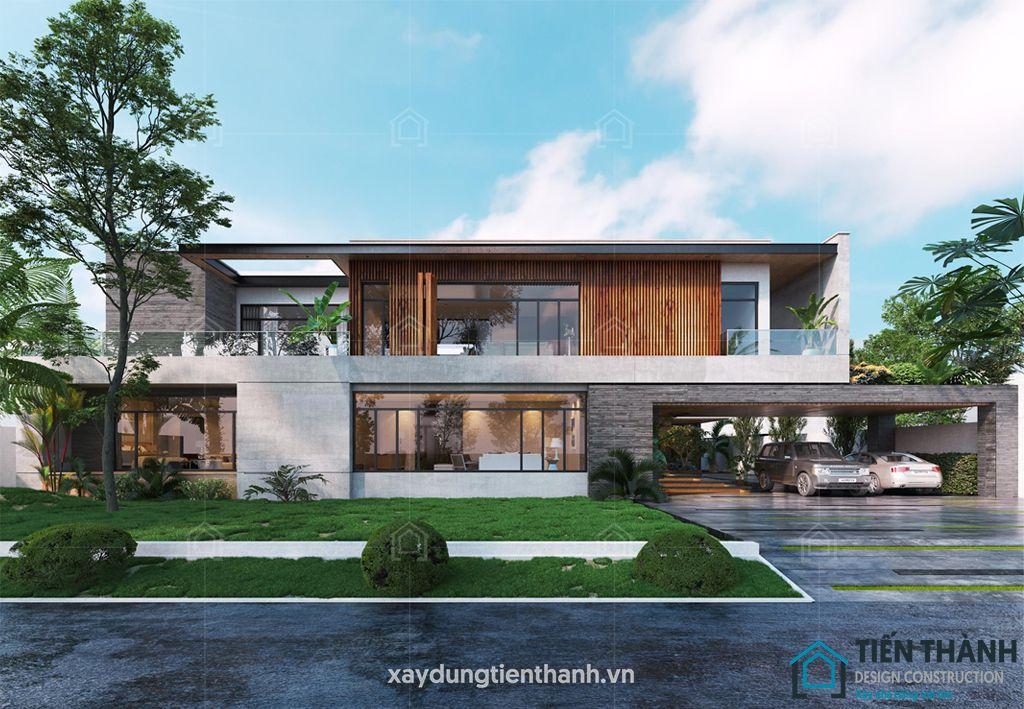 mau nha 2 tang mai bang hien dai 1 - #25 Mẫu nhà 2 tầng mái bằng hiện đại [đẹp] năm 2020