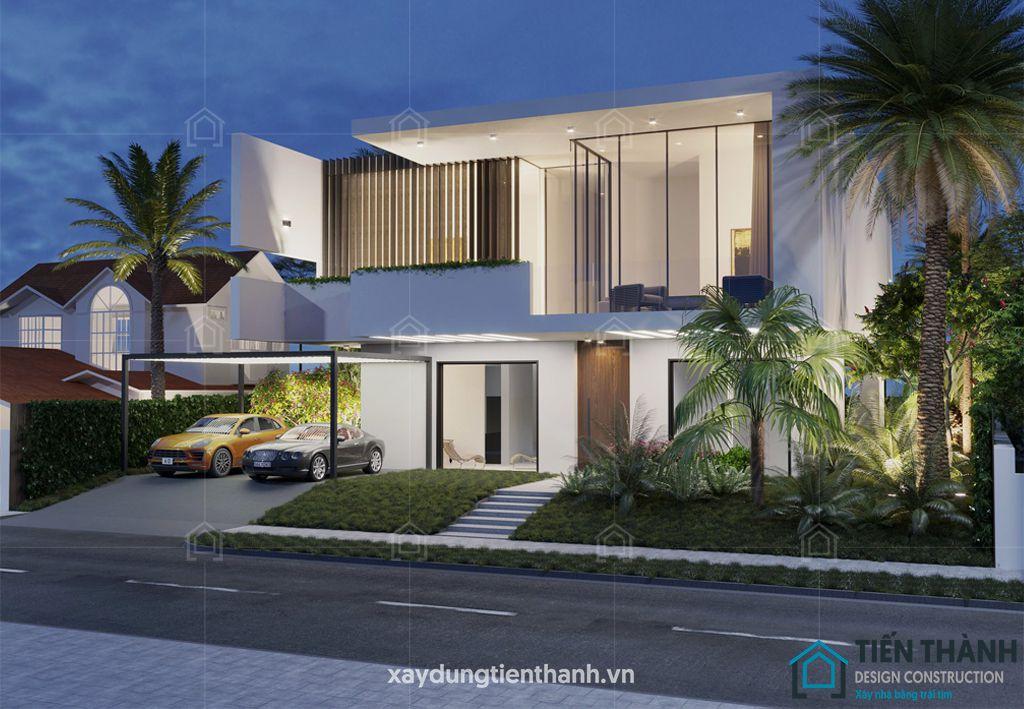 mau nha 2 tang mai bang hien dai 3 - #25 Mẫu nhà 2 tầng mái bằng hiện đại [đẹp] năm 2020