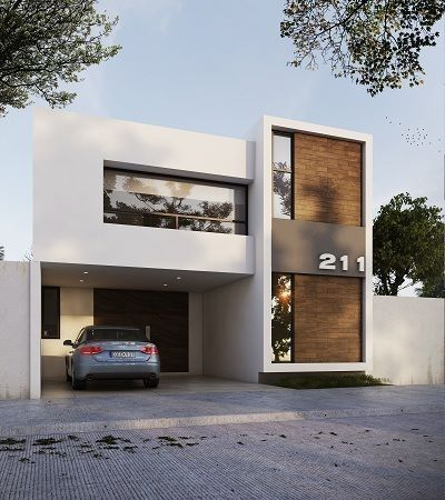 mau nha 2 tang mai bang hien dai 4 - #25 Mẫu nhà 2 tầng mái bằng hiện đại [đẹp] năm 2020