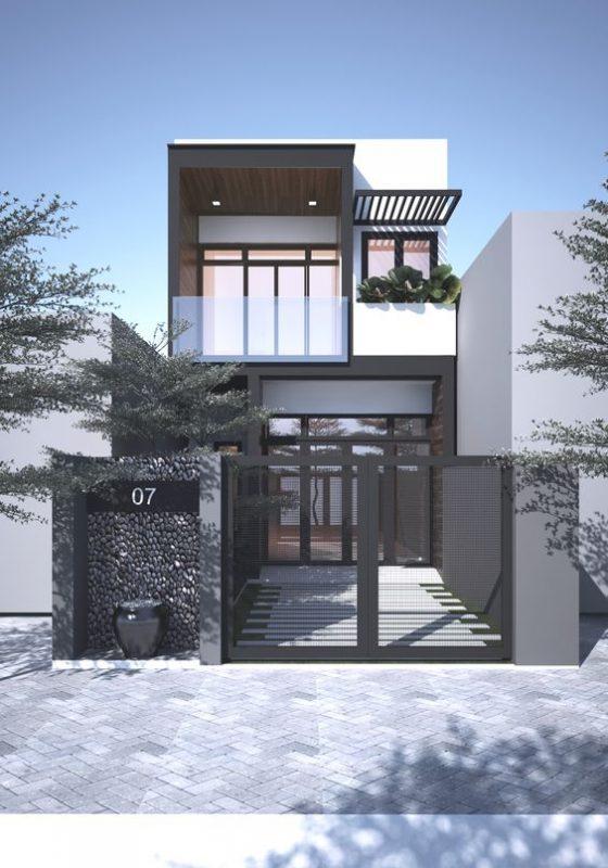 mau nha 2 tang mai bang hien dai 6 560x800 - #25 Mẫu nhà 2 tầng mái bằng hiện đại [đẹp] năm 2020