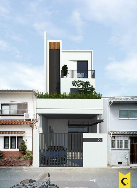 mau nha 2 tang mai bang hien dai 8 - #25 Mẫu nhà 2 tầng mái bằng hiện đại [đẹp] năm 2020