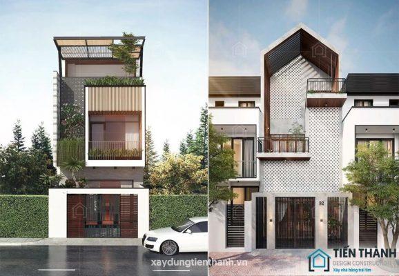 mau nha 3 tang dep 578x400 - #35 mẫu nhà 3 tầng đẹp khát khao nhất tại TPHCM năm 2020