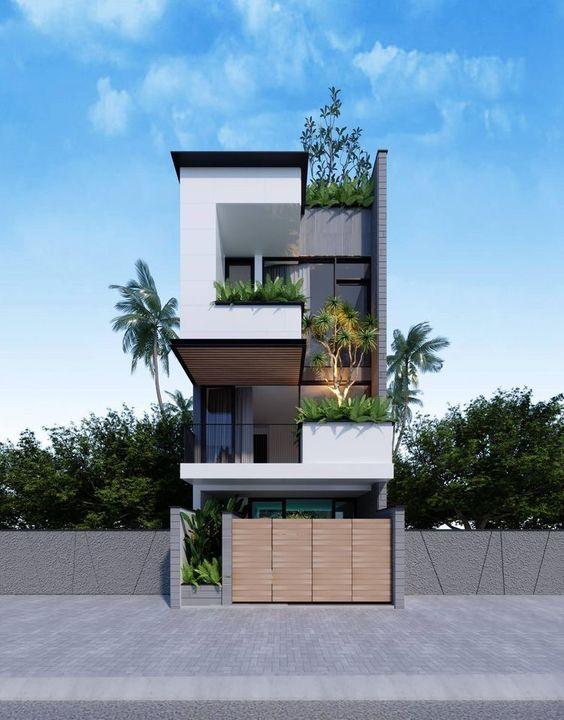 mau nha 3 tang dep hien dai 10 - #35 mẫu nhà 3 tầng đẹp khát khao nhất tại TPHCM năm 2020