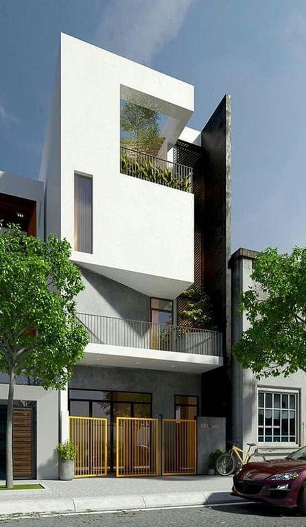 mau nha 3 tang dep hien dai 2 - #35 mẫu nhà 3 tầng đẹp khát khao nhất tại TPHCM năm 2020
