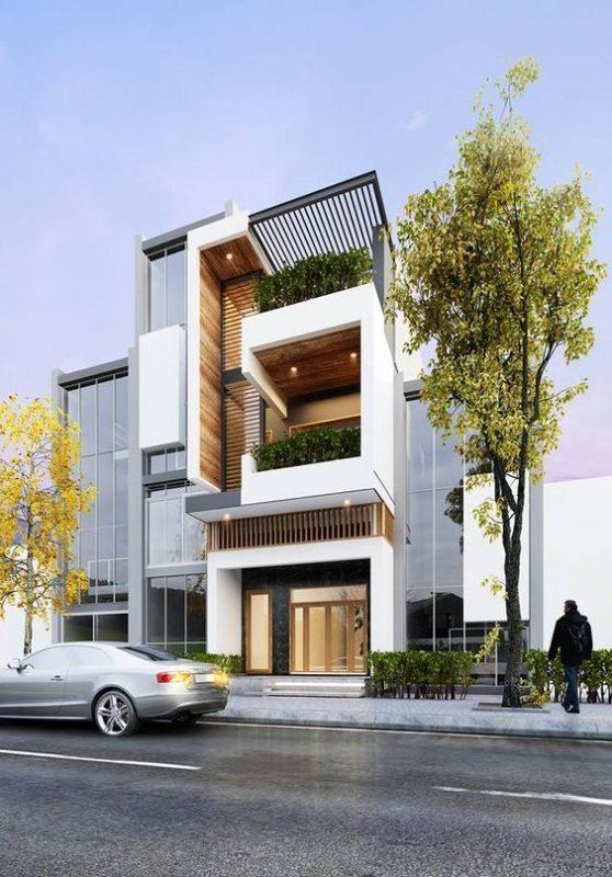 mau nha 3 tang dep hien dai 5 558x800 - #35 mẫu nhà 3 tầng đẹp khát khao nhất tại TPHCM năm 2020