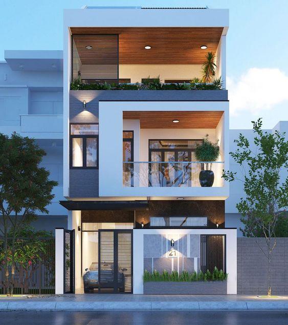 mau nha 3 tang dep hien dai 6 - #35 mẫu nhà 3 tầng đẹp khát khao nhất tại TPHCM năm 2020