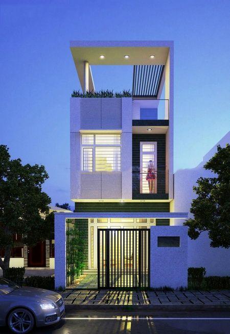 mau nha 3 tang dep hien dai 7 - #35 mẫu nhà 3 tầng đẹp khát khao nhất tại TPHCM năm 2020
