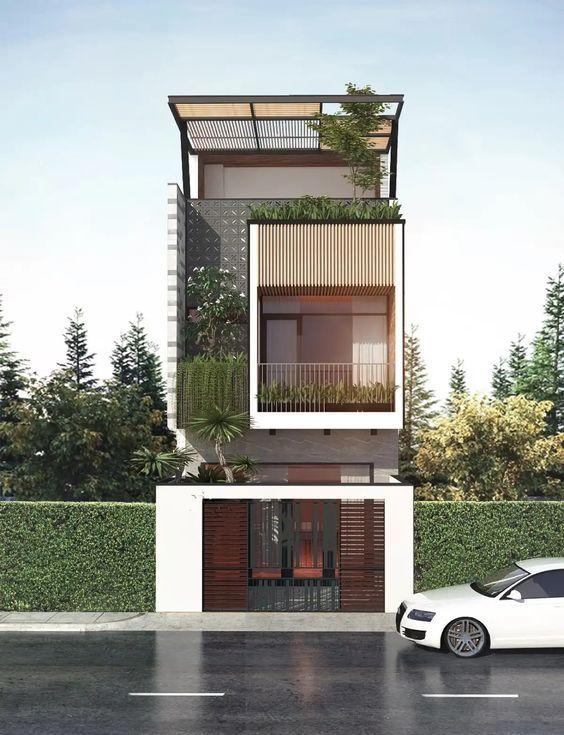 mau nha 3 tang dep hien dai 8 - #35 mẫu nhà 3 tầng đẹp khát khao nhất tại TPHCM năm 2020