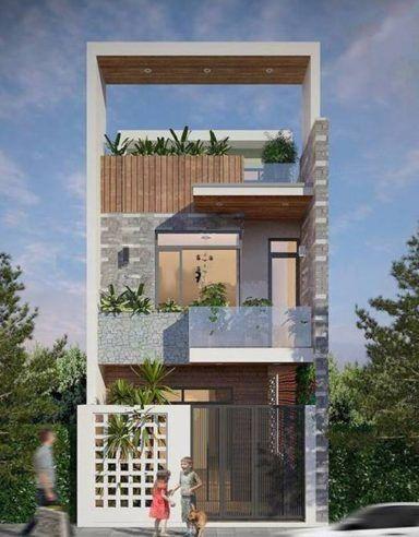 mau nha 3 tang dep hien dai 9 - #35 mẫu nhà 3 tầng đẹp khát khao nhất tại TPHCM năm 2020