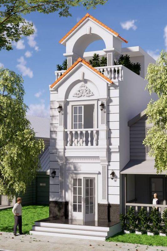mau nha 3 tang dep mai thai 2 533x800 - #35 mẫu nhà 3 tầng đẹp khát khao nhất tại TPHCM năm 2020