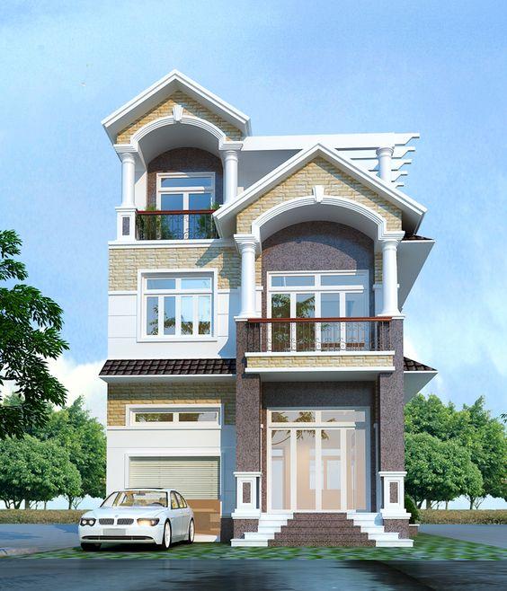 mau nha 3 tang dep mai thai 3 - #35 mẫu nhà 3 tầng đẹp khát khao nhất tại TPHCM năm 2020