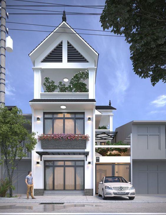mau nha 3 tang dep mai thai 4 - #35 mẫu nhà 3 tầng đẹp khát khao nhất tại TPHCM năm 2020