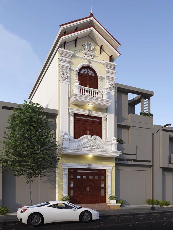 mau nha 3 tang dep mai thai 5 - #35 mẫu nhà 3 tầng đẹp khát khao nhất tại TPHCM năm 2020