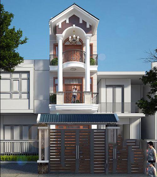 mau nha 3 tang dep mai thai 7 - #35 mẫu nhà 3 tầng đẹp khát khao nhất tại TPHCM năm 2020