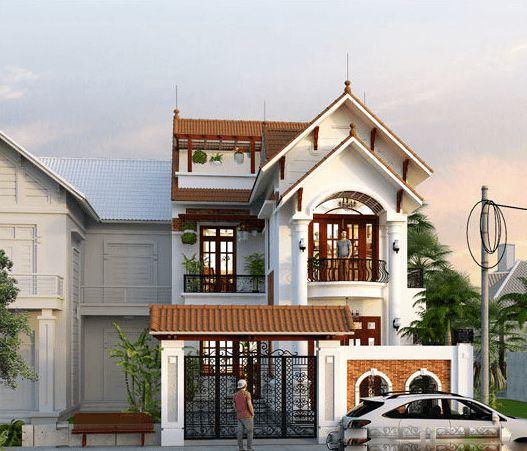 mau nha 3 tang dep mai thai 8 - #35 mẫu nhà 3 tầng đẹp khát khao nhất tại TPHCM năm 2020