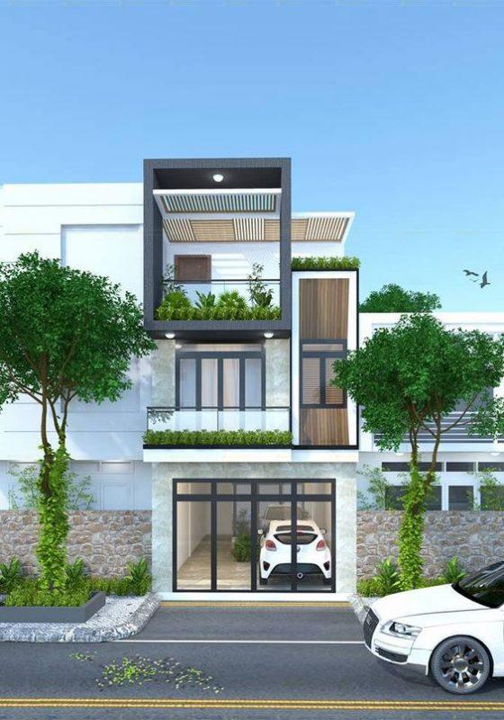 mau nha 3 tang dep nha ong 10 560x800 - #35 mẫu nhà 3 tầng đẹp khát khao nhất tại TPHCM năm 2020