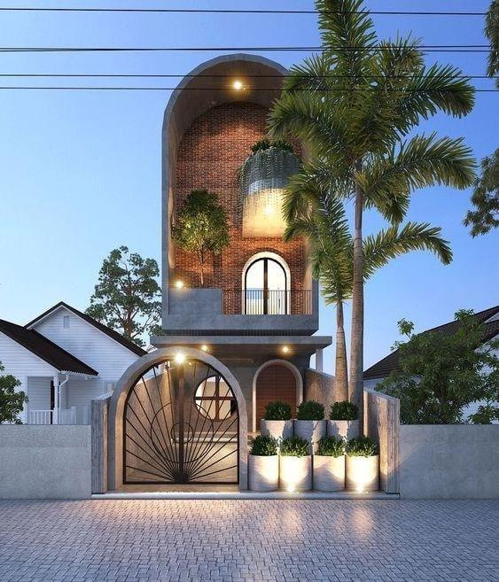mau nha 3 tang dep nha ong 11 - #35 mẫu nhà 3 tầng đẹp khát khao nhất tại TPHCM năm 2020