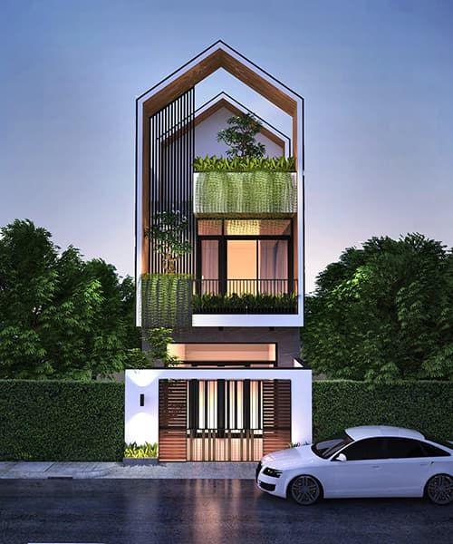 mau nha 3 tang dep nha ong 5 - #35 mẫu nhà 3 tầng đẹp khát khao nhất tại TPHCM năm 2020