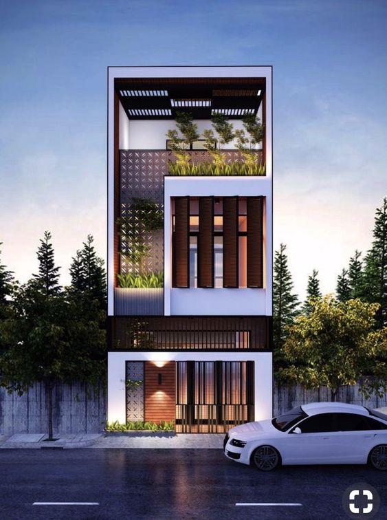 mau nha 3 tang dep nha ong 6 - #35 mẫu nhà 3 tầng đẹp khát khao nhất tại TPHCM năm 2020