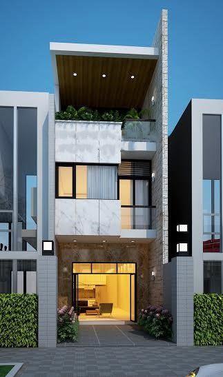 mau nha 3 tang dep nha ong 8 - #35 mẫu nhà 3 tầng đẹp khát khao nhất tại TPHCM năm 2020