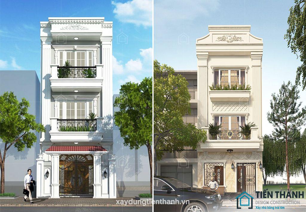 mau nha 3 tang tan co dien 1 - #35 mẫu nhà 3 tầng đẹp khát khao nhất tại TPHCM năm 2020