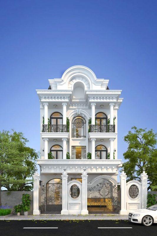mau nha 3 tang tan co dien 3 533x800 - #35 mẫu nhà 3 tầng đẹp khát khao nhất tại TPHCM năm 2020