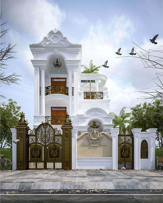mau nha 3 tang tan co dien 7 - #35 mẫu nhà 3 tầng đẹp khát khao nhất tại TPHCM năm 2020